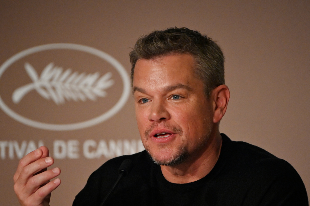 US actor Matt Damon speaks during a press conference for the film 'Stillwater' at the 74th edition of the Cannes Film Festival in Cannes, southern France, July 9, 2021. — AFP pic
