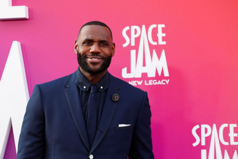 Cast member Lebron James attends the premiere for the film 'Space Jam: A New Legacy' in Los Angeles July 12, 2021. — Reuters pic