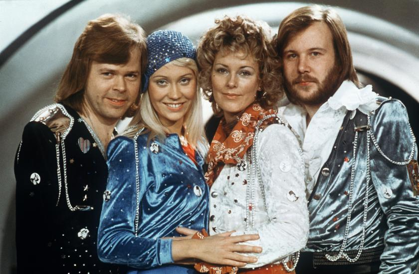 Swedish pop group Abba (from left to right) Bjorn Ulvaeus, Agnetha Faltskog, Anni-frid Lyngstad and Benny Andersson pose during the Eurovision Song Festival, February 9th, 1974. — AFP pic