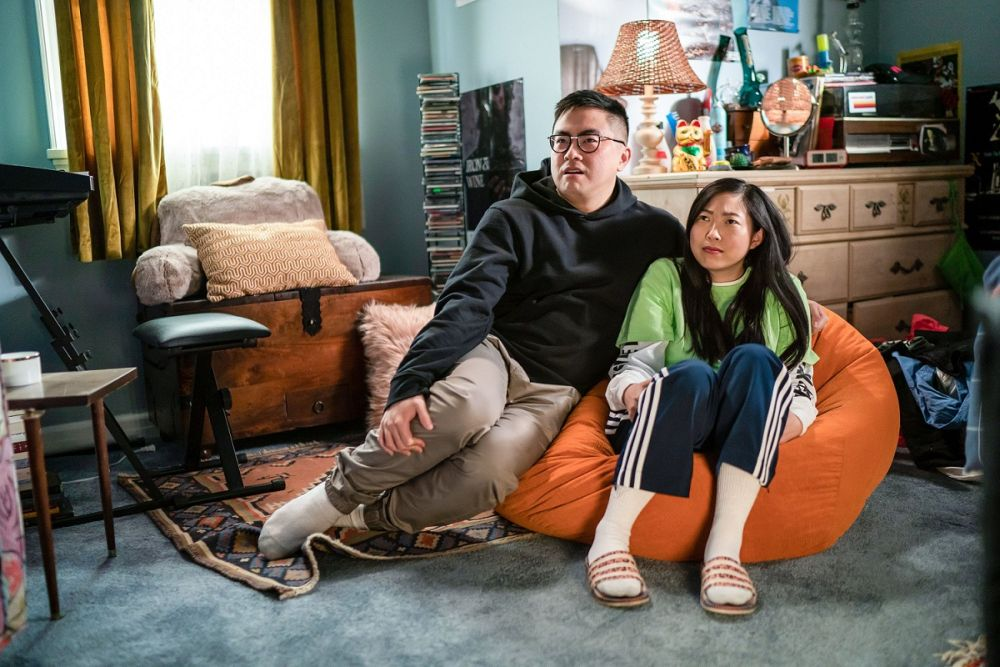 Yang (left) plays Nora's overachieving cousin Edmund in the Comedy Central hit series that was co-created by Awkwafina. — Picture by Zach Dilgard