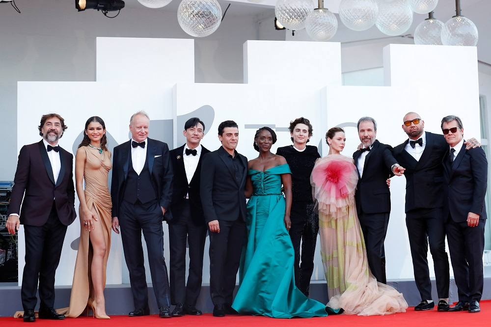 The cast of 'Dune' pose for a group picture during the 78th Venice Film Festival in Venice September 4, 2021. — Reuters pic