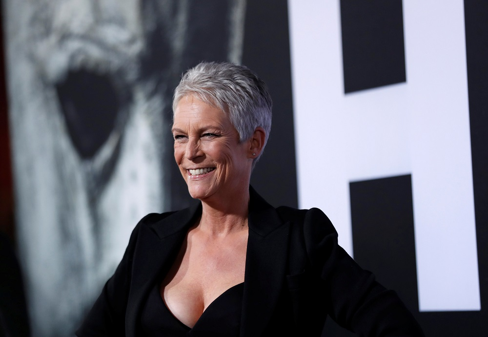 Cast member Jamie Lee Curtis poses at a premiere for the movie 'Halloween' in Los Angeles, California, October 17, 2018. — Reuters pic