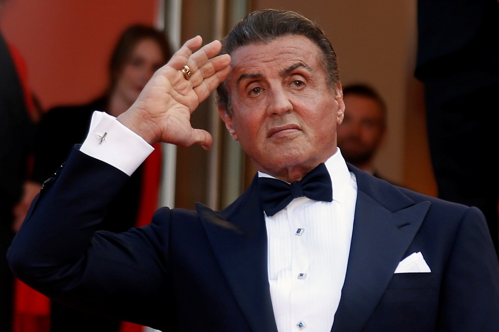 Sylvester Stallone poses for pictures upon arrival at the 72nd Cannes Film Festival in Cannes May 25, 2019. — Reuters pic