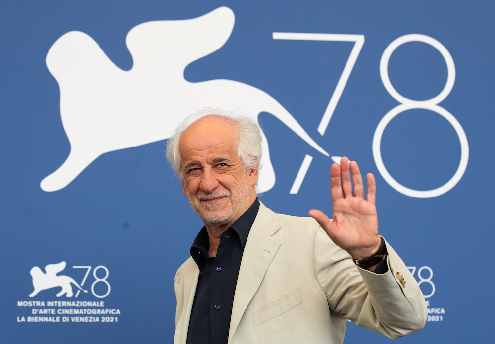 Actor Toni Servillo poses at the photo call for the film 'The King of Laughter' in Venice, Italy September 7, 2021. — Reuters pic