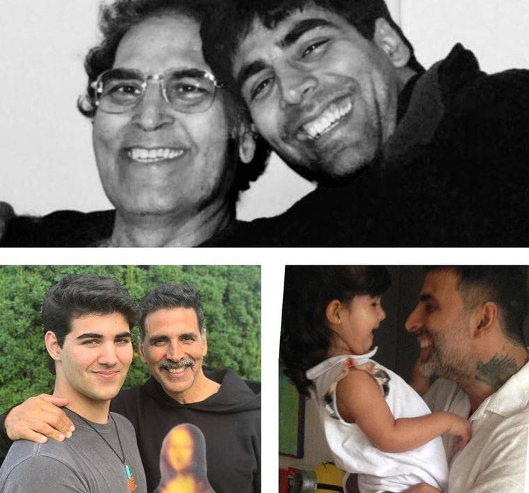 akshay father and kids