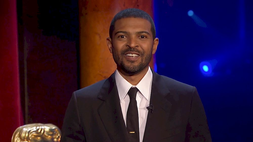 Noel Clarke receives Outstanding British Contribution To Cinema BAFTA award, on the Opening Night show during the 74th British Academy Film Awards in London, April 10, 2021. — BAFTA/Handout via Reuters