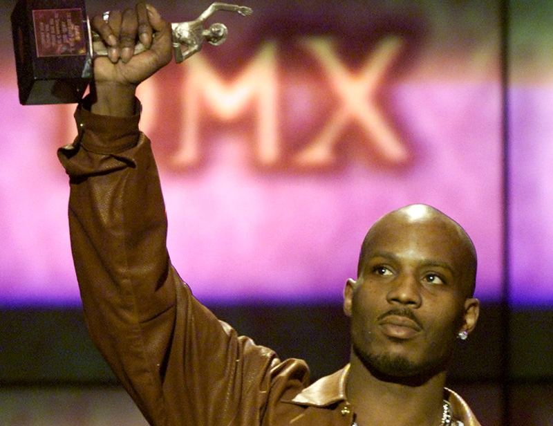 File photo of rapper DMX holding up his award after being named Male Entertainer of the Year at the 14th annual Soul Train Music Awards in Los Angeles March 4, 2000. — Reuters pic