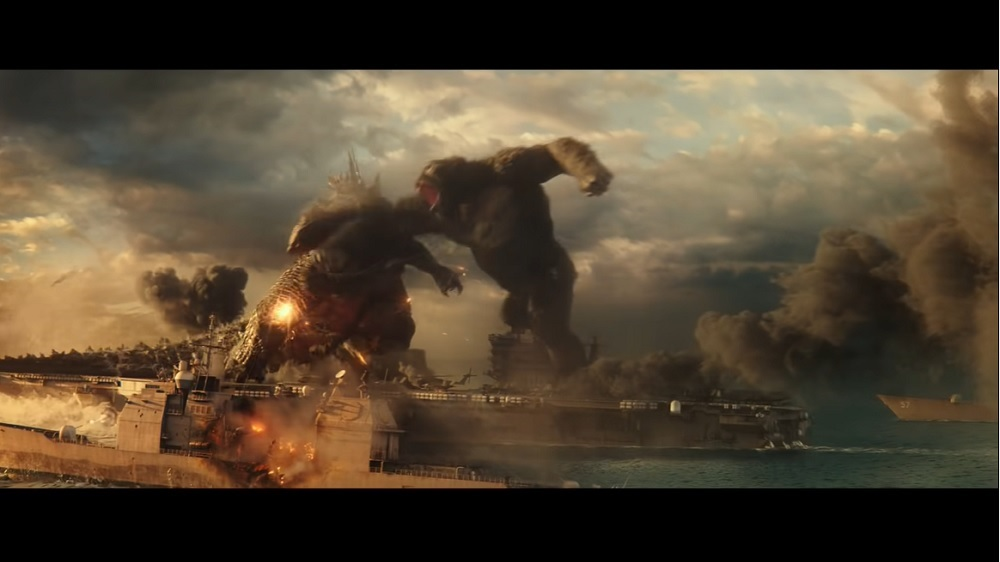 The results for Godzilla vs Kong are especially impressive because the film is also available to HBO Max subscribers for no extra fee. — Screen capture via YouTube/Warner Bros Pictures