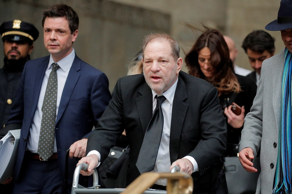 Harvey Weinstein, 69, was found guilty of a criminal sexual act in the first degree and rape in the third degree in February 2020. He was cleared of predatory sexual assault charges. — Reuters pic