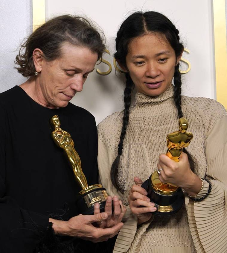 Frances McDormand and Chloe Zhao